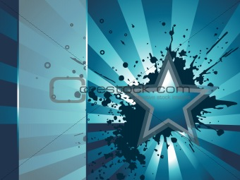 abstract grunge background with star, wallpaper
