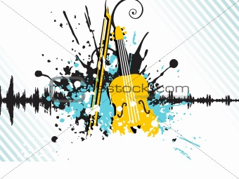 abstract illustration on disco theme, design1