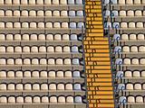 Soccer stadium tribunes