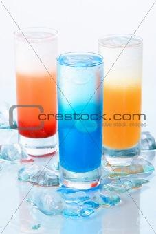 Three kind of cool drinks