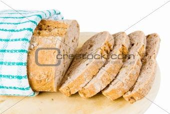 A loaf of fresh bread