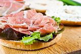 A bagel sandwich