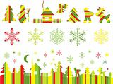 Christmas element for design, vector