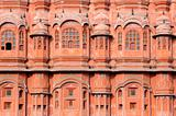 India Jaipur; Hawa Mahal the palace of winds