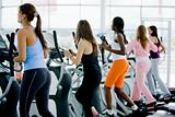 women at the gym