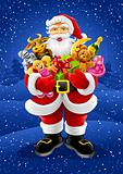 vector Christmas Santa Claus with gifts