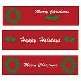 Holiday wreath banners