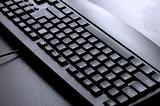 black keyboard