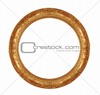 antique frame with clipping path