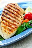 Grilled chicken breasts