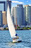 Sailboat in Toronto harbor