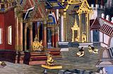Thailand, Bangkok: Grand palace wall painting