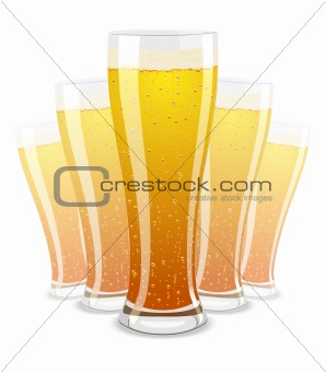 Vector illustration of beer glasses