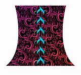 Vector illustration of abstract corset