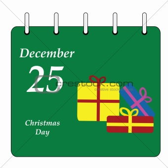 Calendar - Christmas Day gifts
