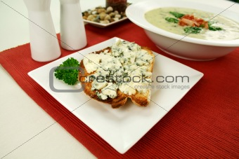 Blue Cheese Toast And Soup