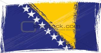 Grunge Bosnia and Herzegovina flag