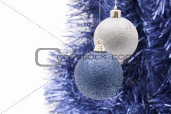 blue balls on white background