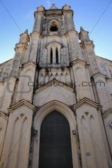 Church facade in havana
