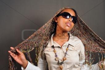 African female model