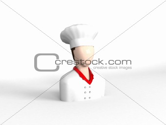 three dimensional chef character
