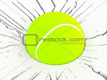 three dimensional tennis ball