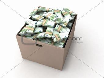 three dimensional euro bundles on cardboard