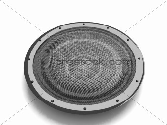 three dimensional black speaker