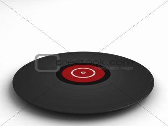 three dimensional  vinyl record
