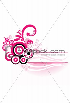 Abstract pink design