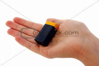 Battery - 9v (PP3) in hand