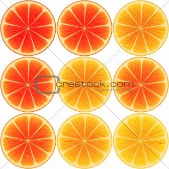 9 oranges