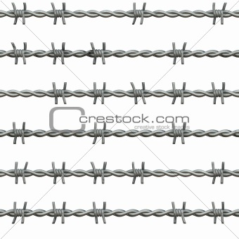 sl barbed wire isolated