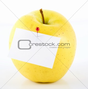 Apple with label