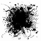 large halftone ink splat