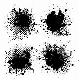small halftone ink splat