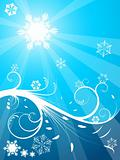 Cold Christmas background