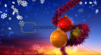 Christmas Balls Sunrise