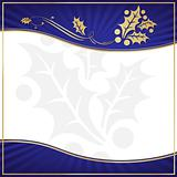 Exotic Blue Holly Adorned Gift Tag with Room for your own text.