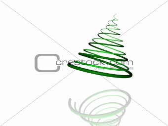 Design Element: Christmas Tree Illustration