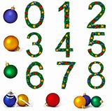 Numerals from christmas decoration