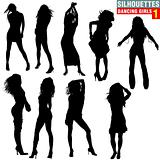 Silhouettes Dancing Girls 01