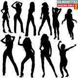 Silhouettes Dancing Girls 02