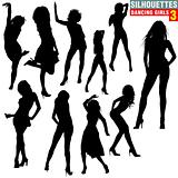 Silhouettes Dancing Girls 03