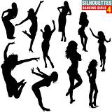 Silhouettes Dancing Girls 04