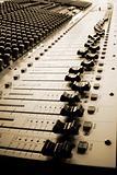 Mixing desk - sepia