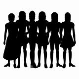 Silhouettes of women