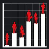 business chart and people