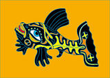 Black-yellow fish