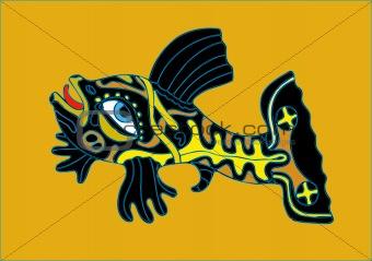 Black-yellow fish